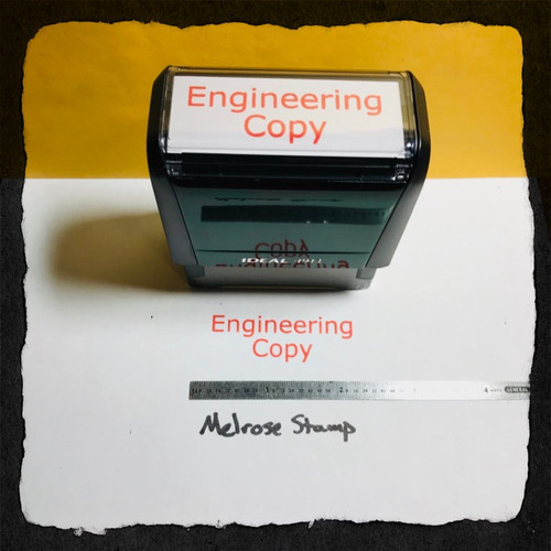 Engineering Copy Stamp Red Ink Large