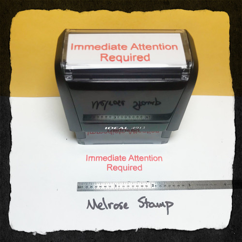 Immediate Attention Required Stamp Large