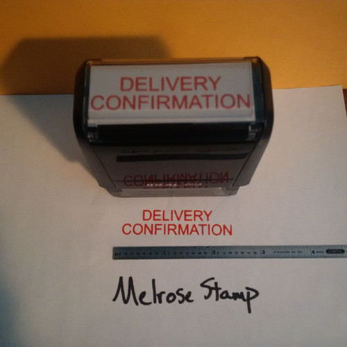DELIVERY CONFIRMATION  Rubber Stamp for mail use self-inking