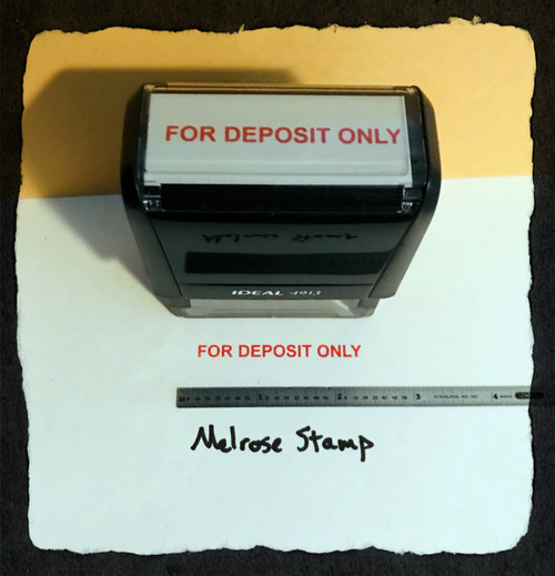 For Deposit Only Stamp Red Ink Large 2