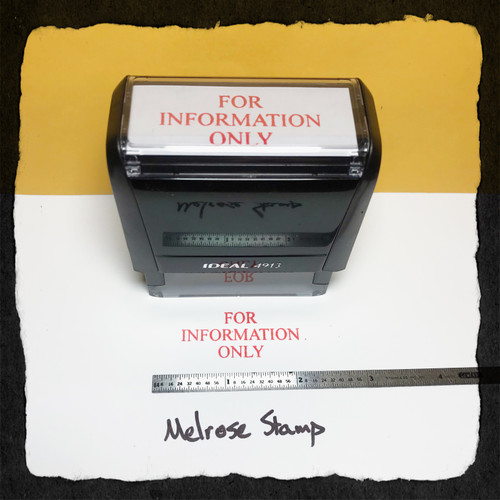 For Information Only Stamp Red Ink Large