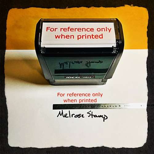 For reference Only When Printed Stamp Red Ink Large