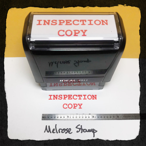 Inspection Copy Stamp Red Ink large