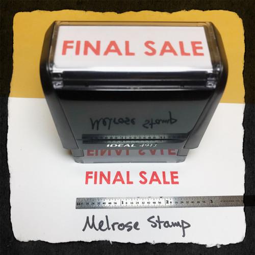 Final Sale Stamp Red Ink Large