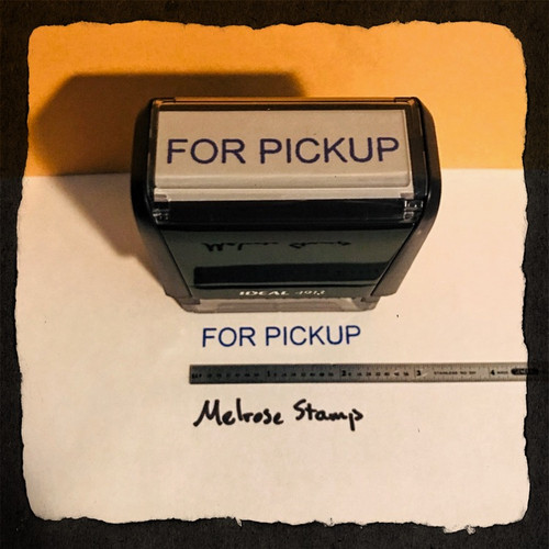 For Pickup Stamp Blue Ink Large 2
