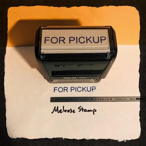 For Pickup Stamp Blue Ink Large 2