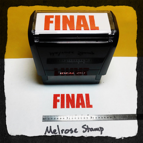 Final Stamp Red Ink Large