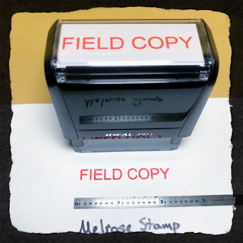 Field Copy Stamp Red Ink Large