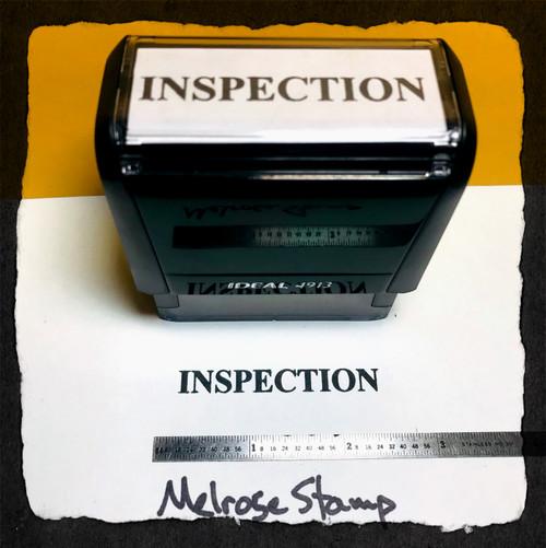 Inspection Stamp Black Ink Large