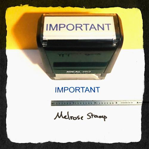 Important Stamp Blue Ink Large 2