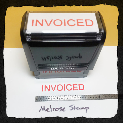Invoiced Stamp Red Ink Large
