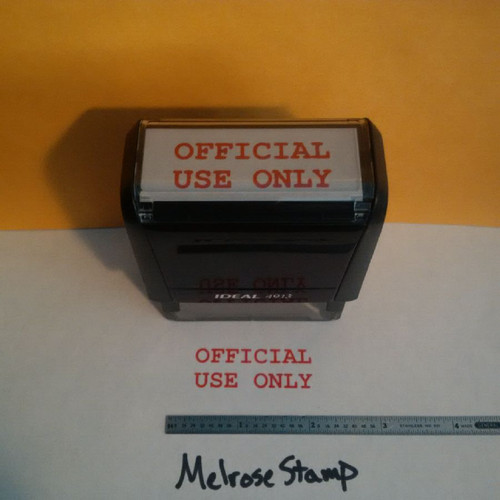 OFFICIAL USE ONLY Rubber Stamp for office use self-inking