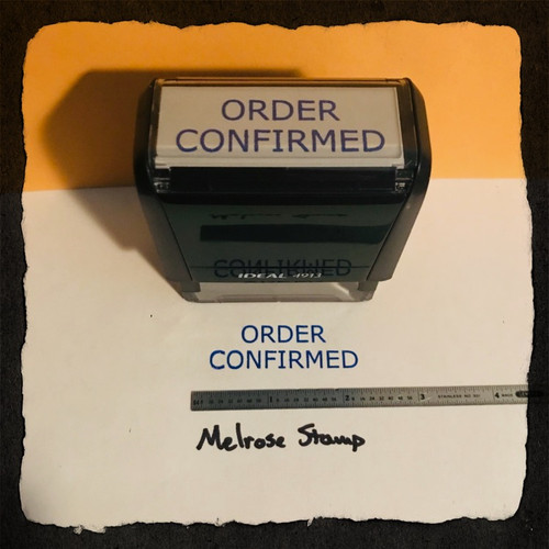 Order Confirmed Stamp Blue Ink Large 2