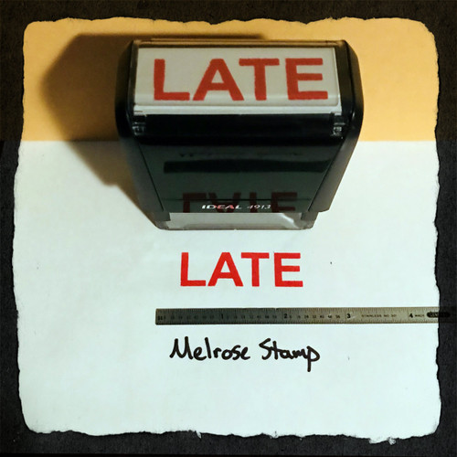 Late Stamp Red Ink Large 2