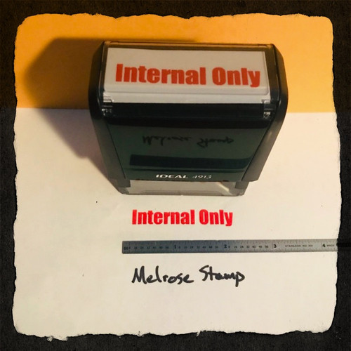 Internal Only Stamp Red Ink Large 2