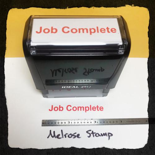 Job Complete Stamp Red Ink Large