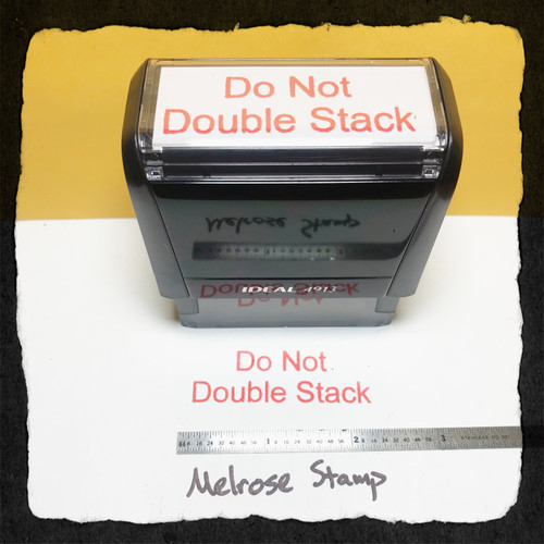 Do Not Double Stamp Red Ink Large