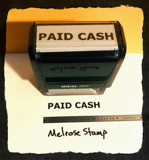 Paid Cash Stamp Black Ink Large 2