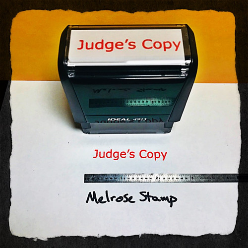 Judge's Copy Stamp Red Ink Large