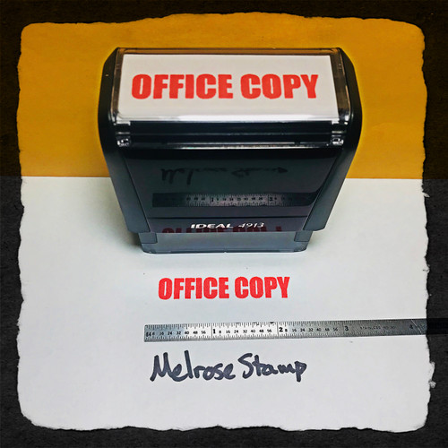 Office Copy Stamp Red Ink Large