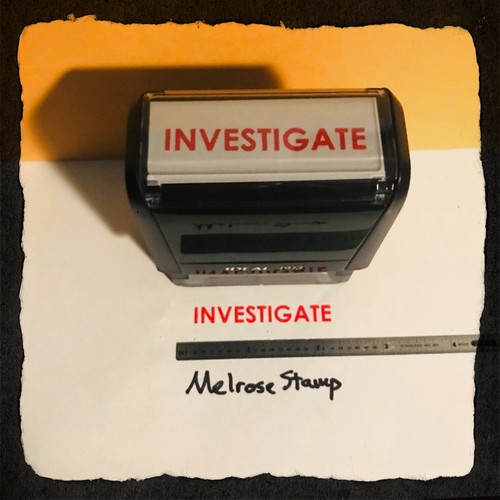 Investigate Rubber Stamp Red Ink Large 2