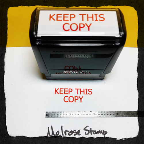 Keep This Copy Stamp Red Ink Large