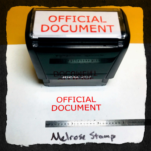 OFFICIAL DOCUMENT Rubber Stamp for office use self-inking