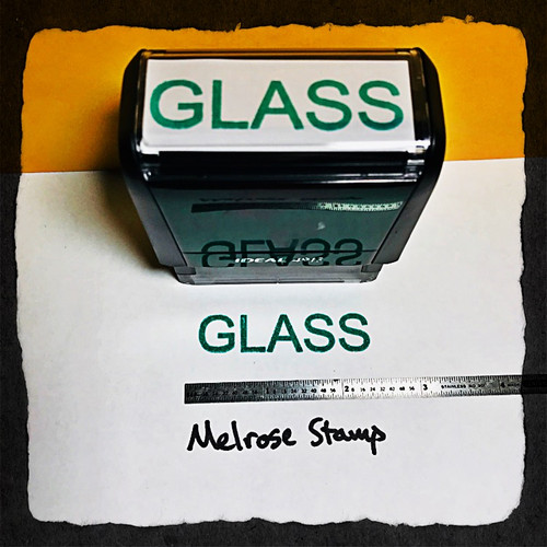Glass Stamp Green Ink Large