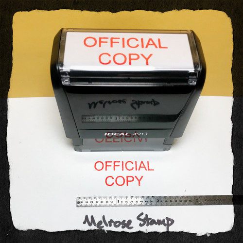 Official Copy Stamp Red Ink Large