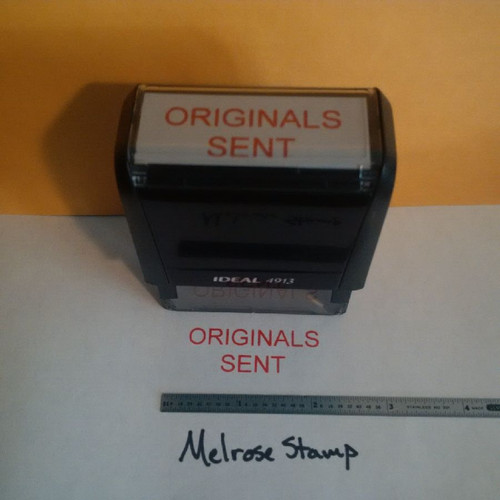 ORIGINALS SENT Rubber Stamp for office use self-inking