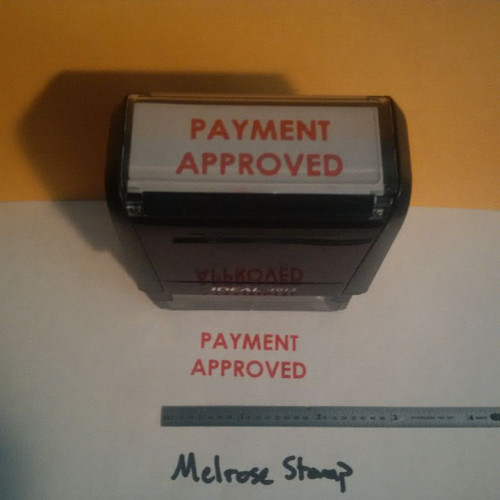 PAYMENT APPROVED Rubber Stamp for office use self-inking