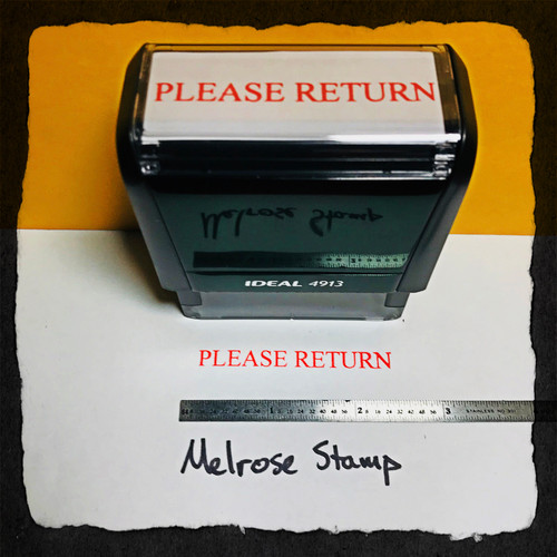 Please Return Stamp Red Ink large