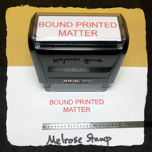 Bound Printed Matter Stamp Red Ink Large