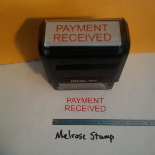 PAYMENT RECEIVED Rubber Stamp for office use self-inking