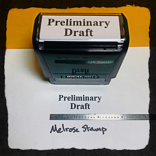 Preliminary Draft Stamp Black Ink Large
