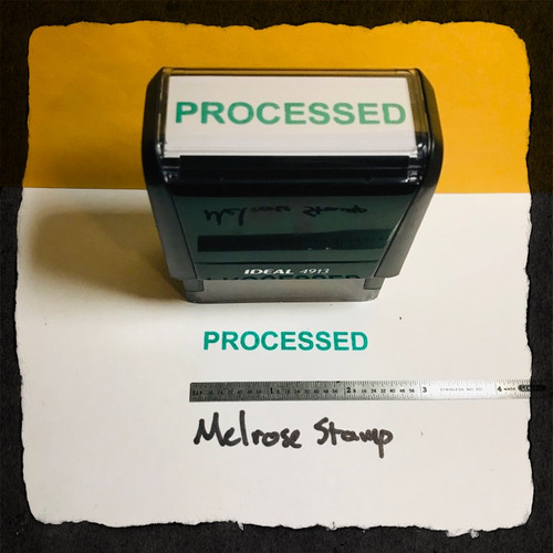 Processed Stamp Green Ink Large