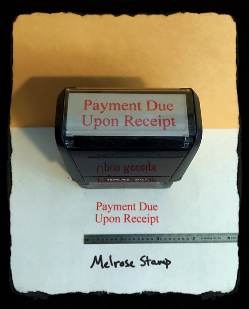 Payment Due Upon Receipt Stamp Red Ink Large 2