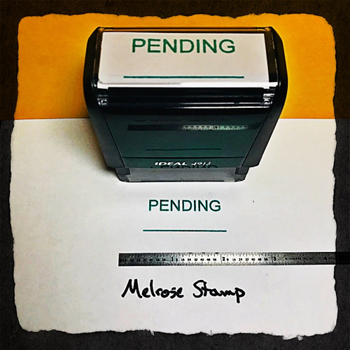 Pending Stamp Green Ink Large