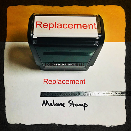 Replacement Stamp Red Ink Large