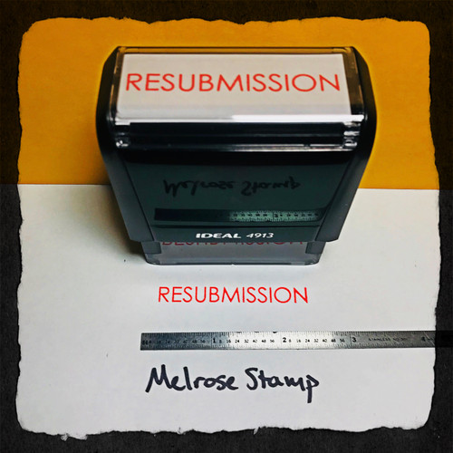 Resubmission Stamp Red Ink Large
