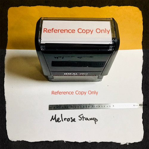 Reference Copy Only Stamp Red Ink Large