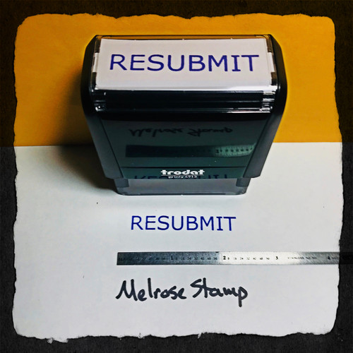 Resubmit Stamp Purple Ink Large