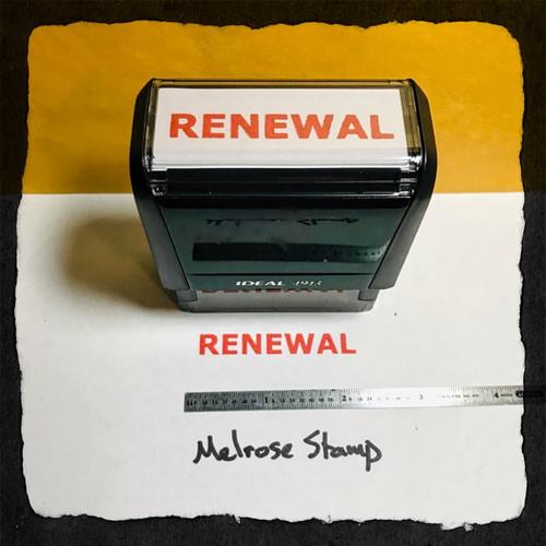 Renewal Stamp Red Ink Large