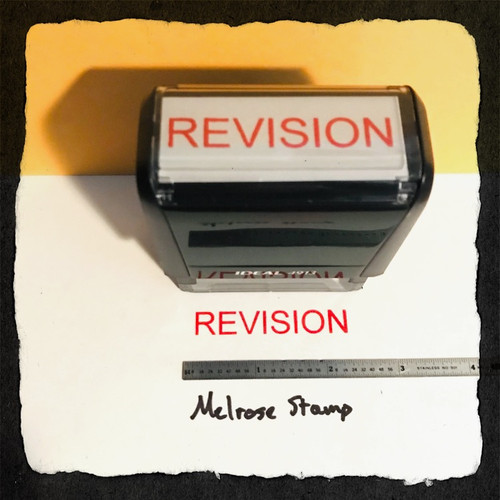 Revision Stamp Red Ink Large 2