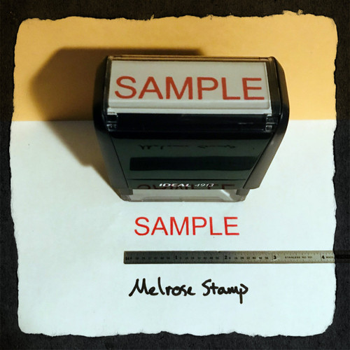 Sample Stamp Red Ink Large 2