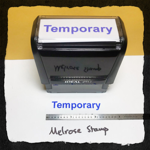 Temporary Stamp Blue Ink Large