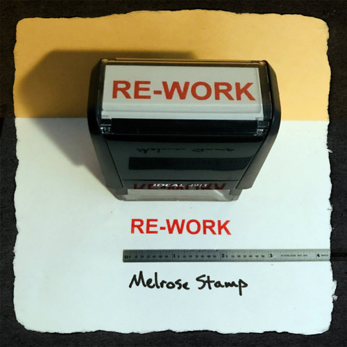 Re-Work Stamp Red Ink Large 2