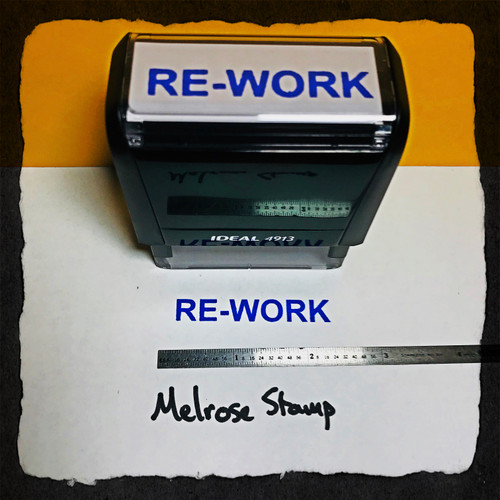 Rework Stamp Blue Ink Large