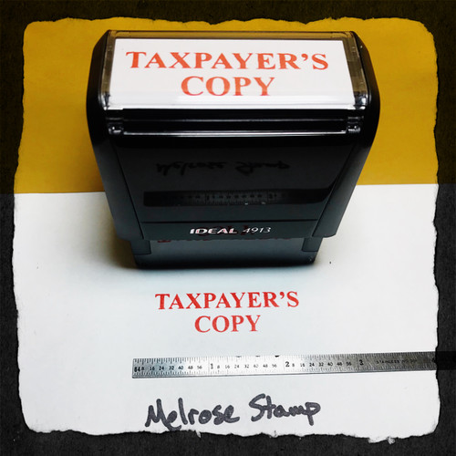 Taxpayer Copy Stamp Red Ink Large