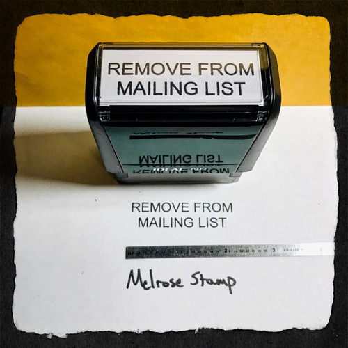 Remove From Mailing List Stamp Black Ink Large